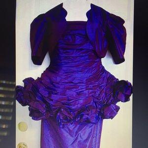 Plum ball gown